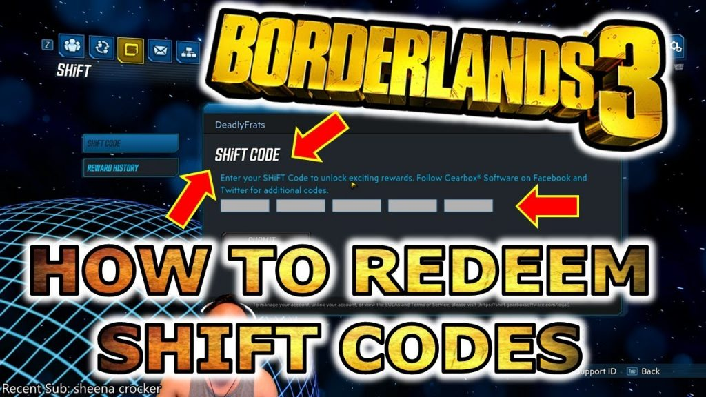 borderlands 3 shift codes ps4