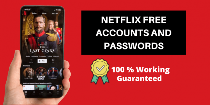 free netflix account and password,