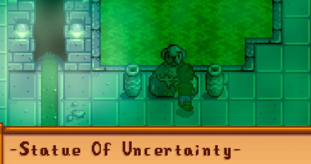 The Uncertainty Statue: Stardew Valley Sewer