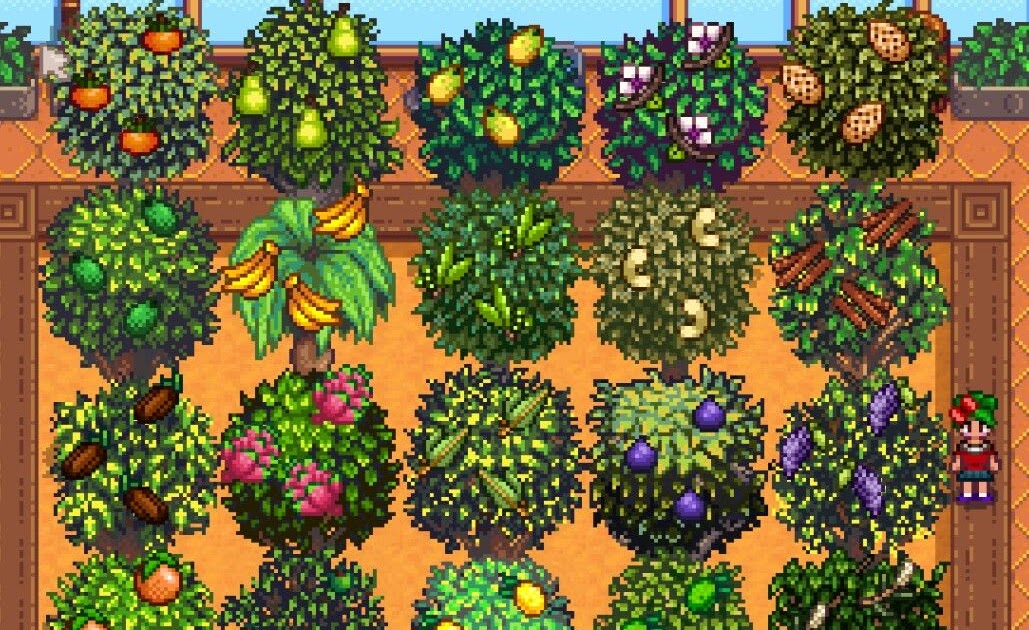 Fruit Trees Stardew Valley: Planting Oak, Maple, Pine & Using Tappers