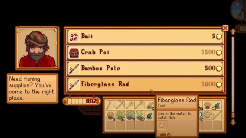 how to attach bait to a fishing rod stardew valley